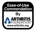 Arthritis Foundation with the Ease of Use Commendation