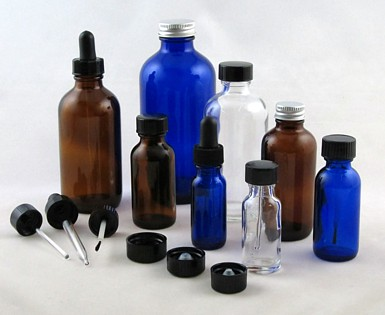 Glass Bottles - Amber Glass Bottles - Cobalt Blue Glass Bottles