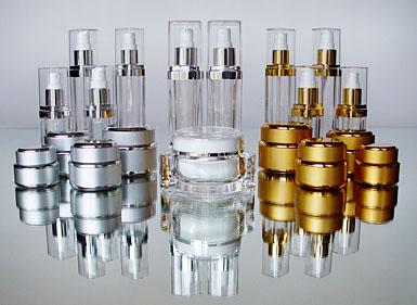 Specialty Glass and Plastic Cosmetic Bottles, Jars, Containers