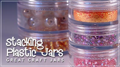 Clear Plastic Jars | Stacking Jar and Sifter Jar