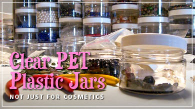 Clear PET Plastic Jars