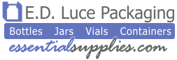 E.D. Luce Packaging - Essential Supplies: Bottles, Jars, Vials, Containers
